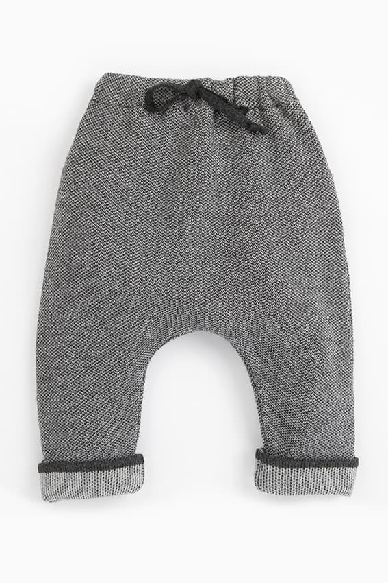 pantalon bebe ajustable gris jacquard freddy