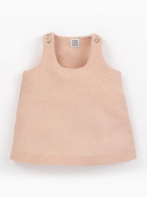 pichi bebe nina rosa botones ines