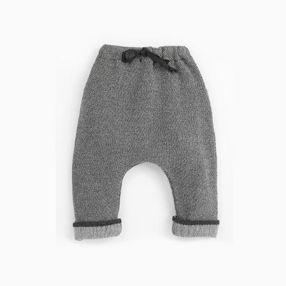 pantalon lana gris