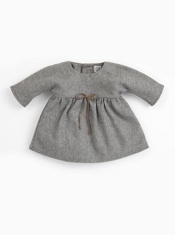 vestido bebe nina gris clari