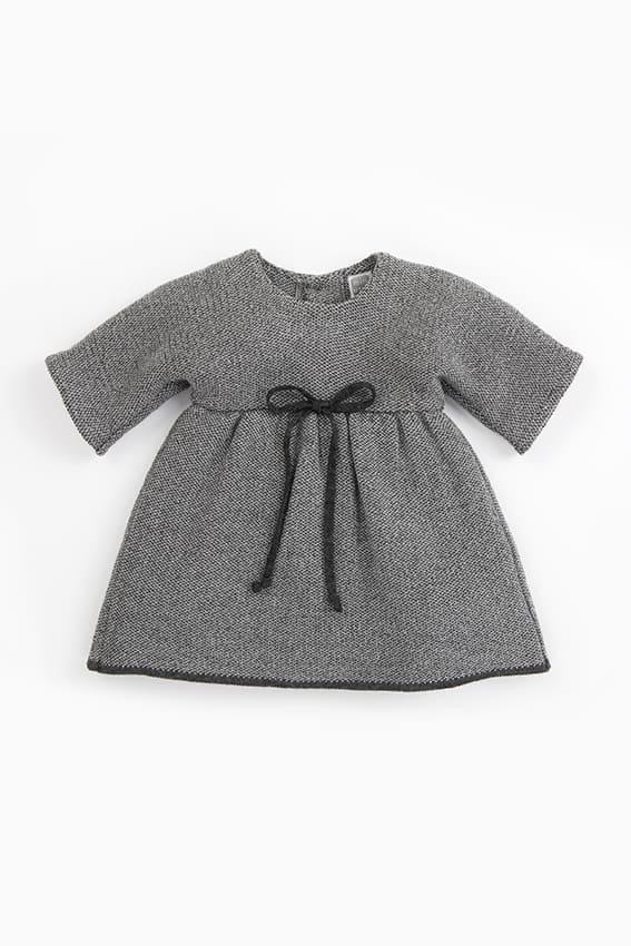 vestido bebe nina exclusivo menchu gris