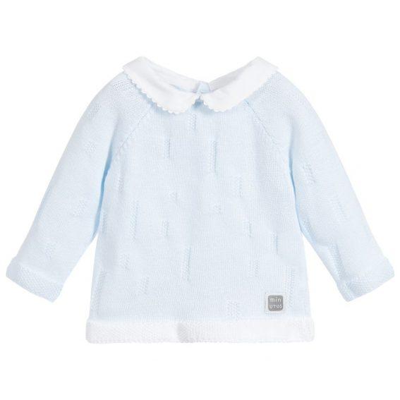 jersey de algodón celeste para bebé