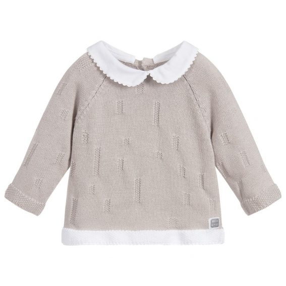 jersey de algodón gris para bebé