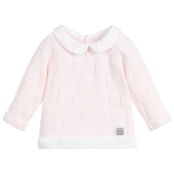jersey de algodón rosa para bebé