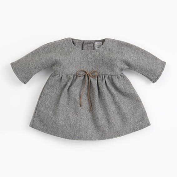 vestido de bebé de lana Clari