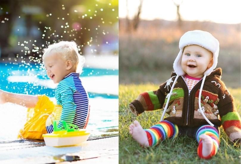 bebe invierno y verano