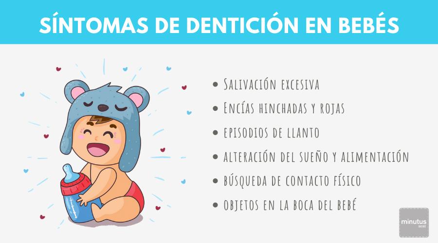 síntomas de dentición en bebés