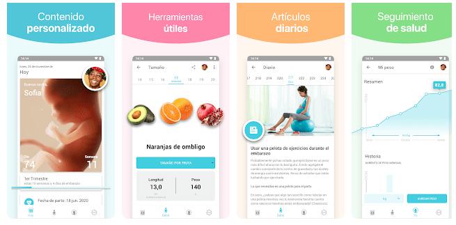 aplicaciones para embarazadas embarazo + android y iphone