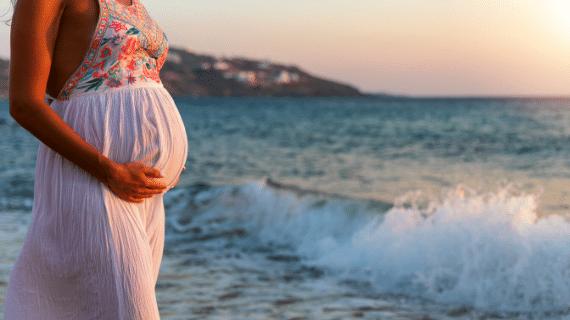 evita la luz solar directa durante un embarazo