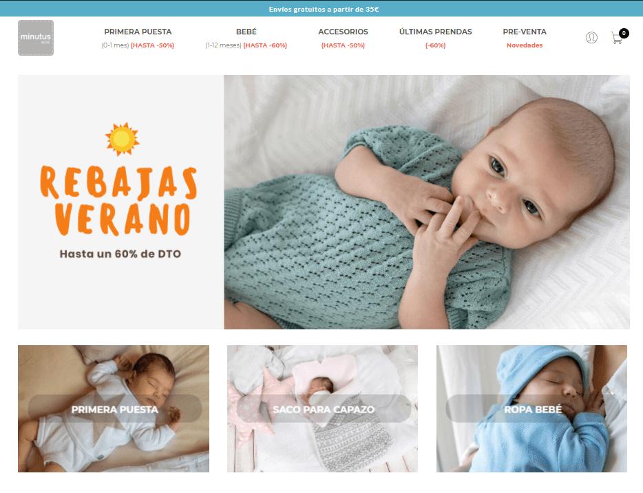 Ropa para bebés recien nacidos Minutus