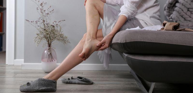 Edema en el embarazo en los pies y en los tobillos