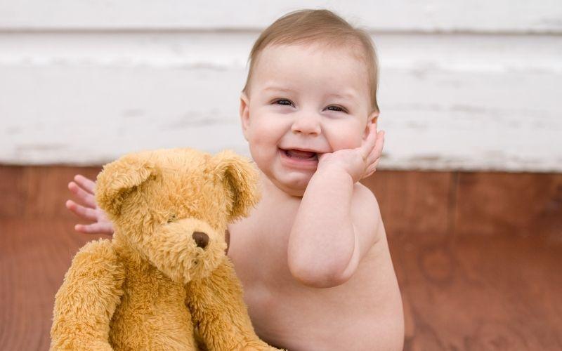 lavar oso de peluche bebe por cuidado de piel